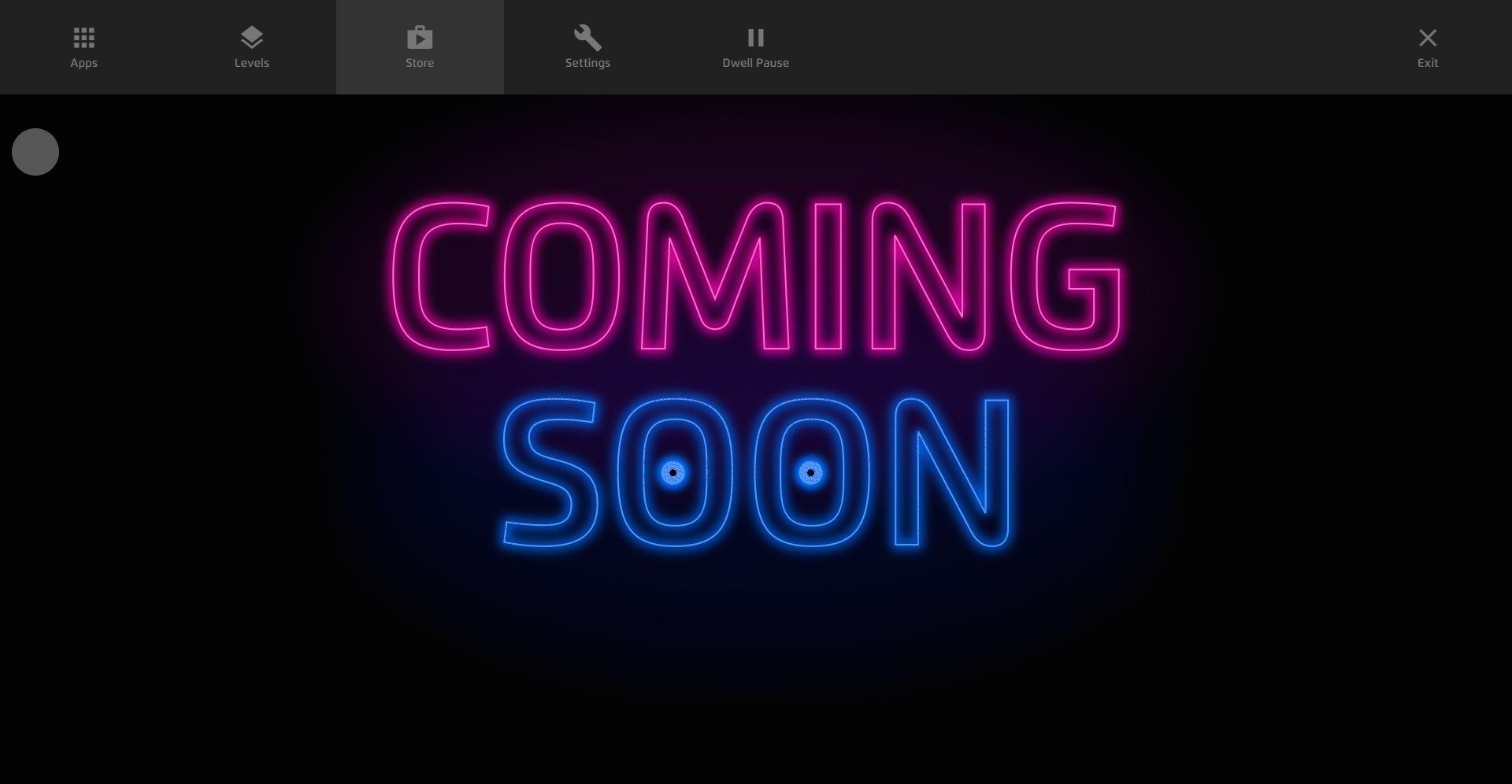 Magic Eye FX Gaze Menu App Store Coming Soon